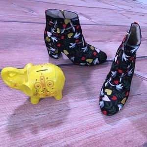 Boden Folk Embroidered Heeled Ankle Boots